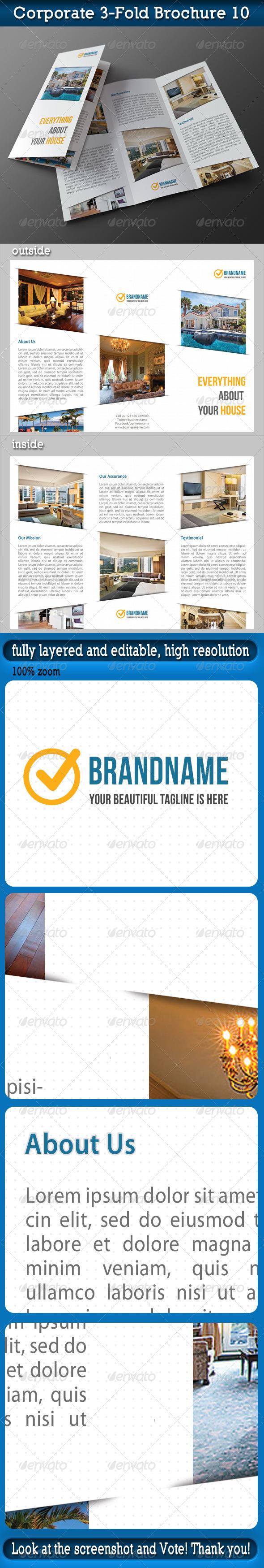 Corporate 3-Fold Brochure 10 - Corporate Brochures