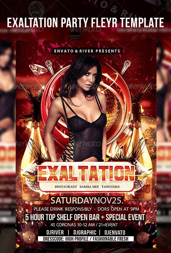 Exaltation Party Flyer Template - Events Flyers