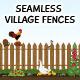 Seamless Village Fences - GraphicRiver Item for Sale