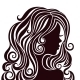 Silhouette of a Young Lady with Luxurious Hair - GraphicRiver Item for Sale