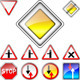 Set of Road Signs Priority - GraphicRiver Item for Sale