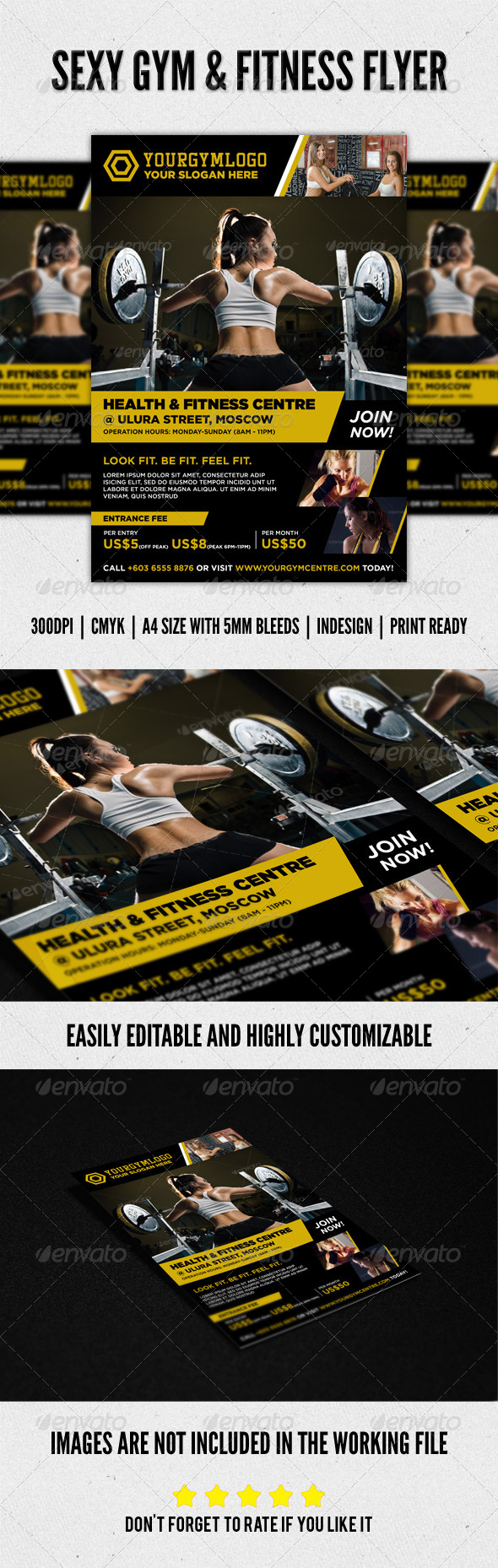 Sexy Fitness Gym Sports Workout Flyer