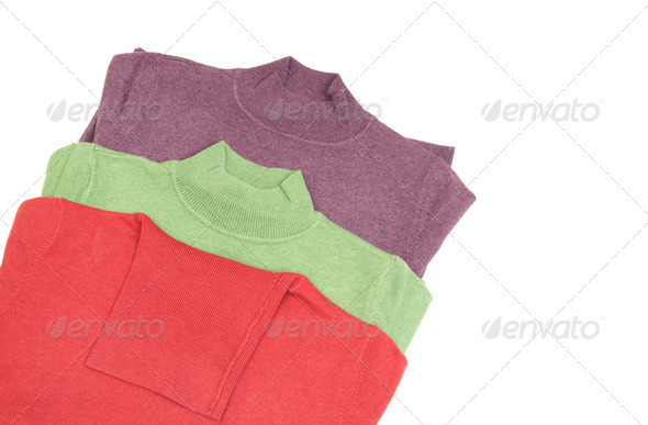 Beautiful,elegance sweaters on a white. - Stock Photo - Images