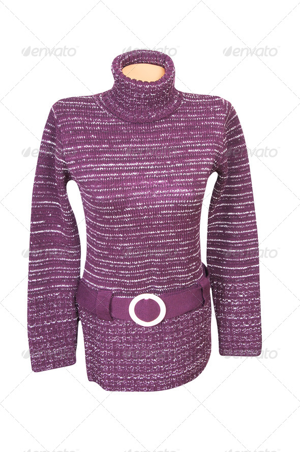 Stylish violet tunic on a white.. - Stock Photo - Images