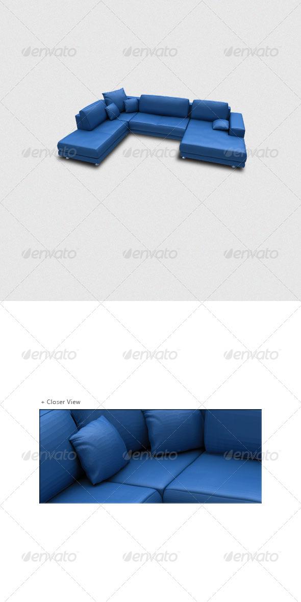 3D Sofa Render - Objects 3D Renders