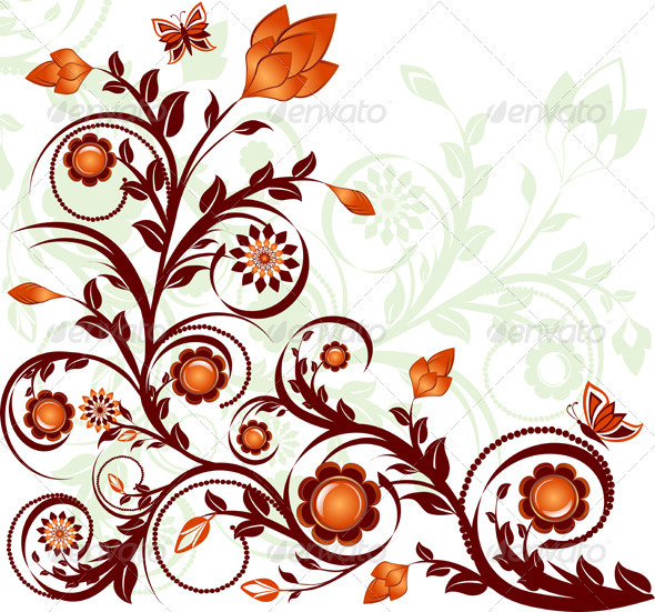 Vector Illustration of a Floral Ornament - Decorative Vectors