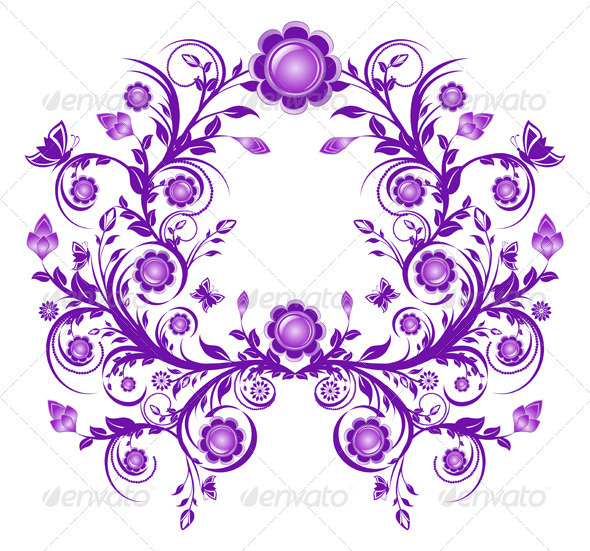 Vector Illustration of a Floral Ornament - Borders Decorative