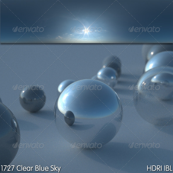 HDRI IBL 1727 Clear Blue Sky - 3DOcean Item for Sale