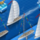 Isometric Sailships in Navigation and Regatta
