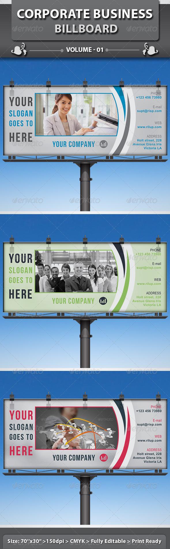 Corporate Business Billboard   Volume 1 - Signage Print Templates
