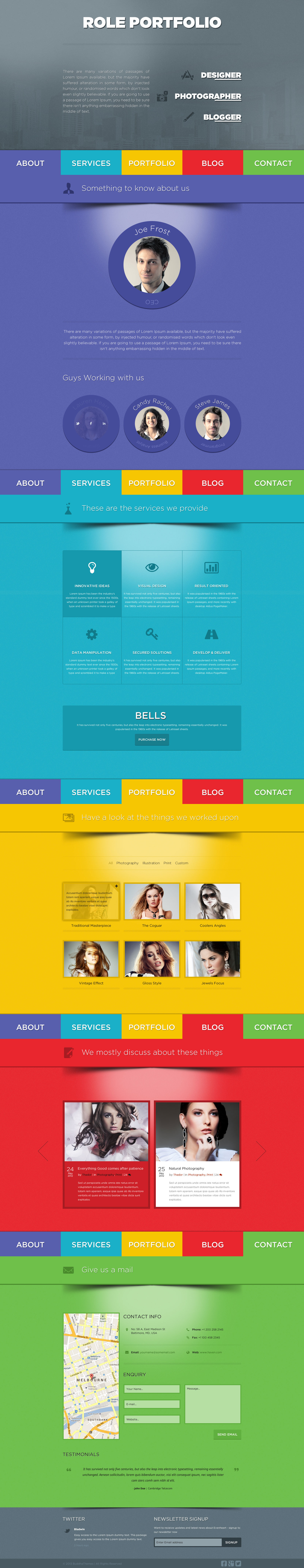 Role - One Page Portfolio PSD Template by BuddhaThemes | ThemeForest