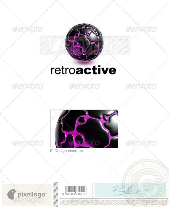 Globe Logo 3D-741 - 3d Abstract