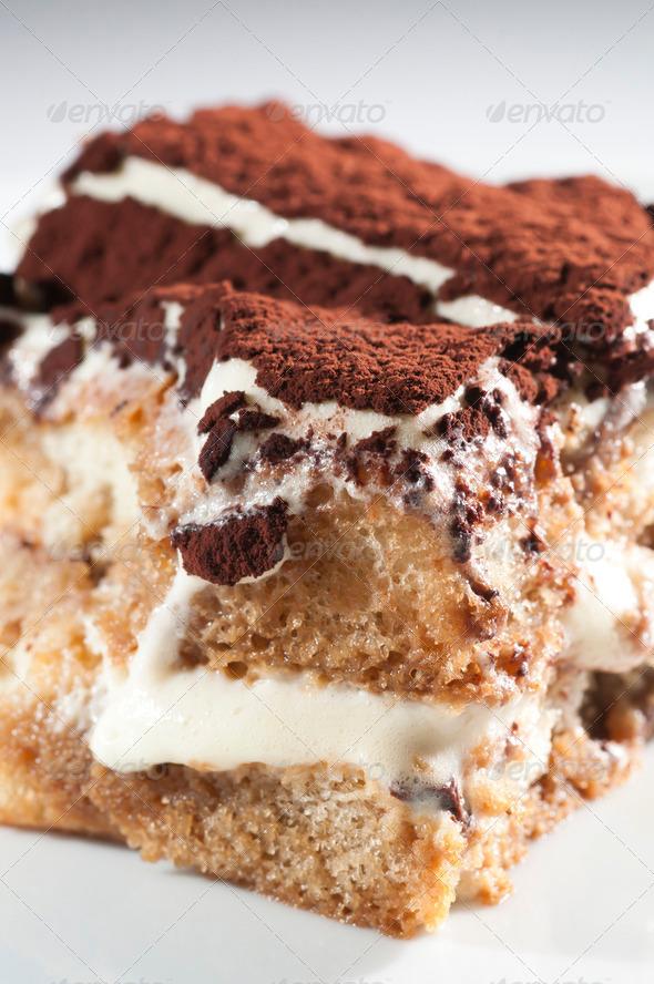 Classic, Traditional Tiramisu Fresh Cake - Stock Photo - Images