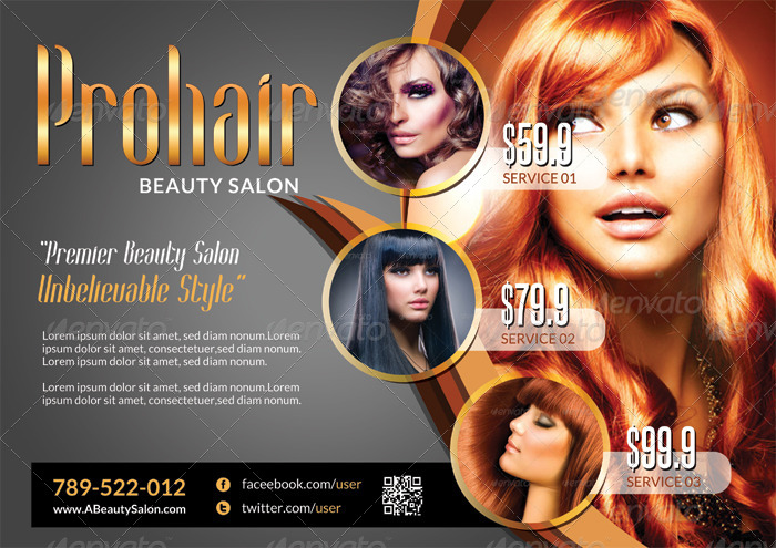 Delightful Modern Beauty Salon   Flyer Template   Corporate Flyers.  01_imgSet_flyer_modernsalon_golden  02_imgSet_flyer_modernsalon_silver ...