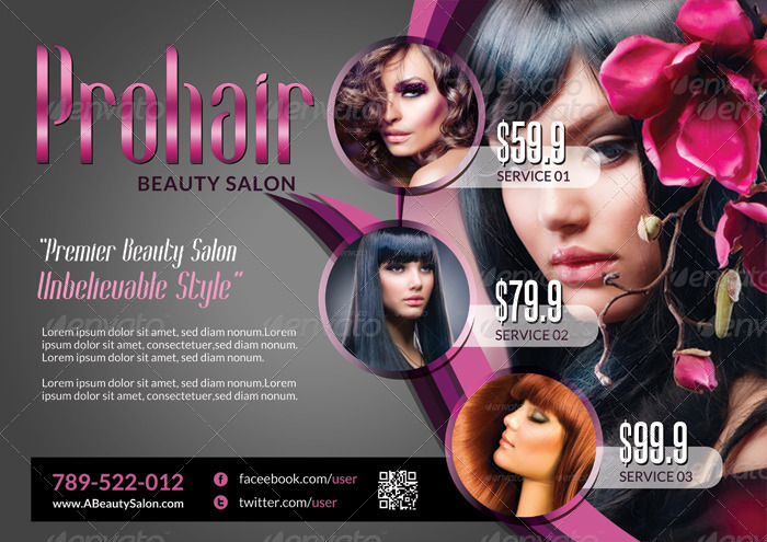 Makeup Flyer Templates Free Style Guru Fashion Glitz Glamour Style Unplugged