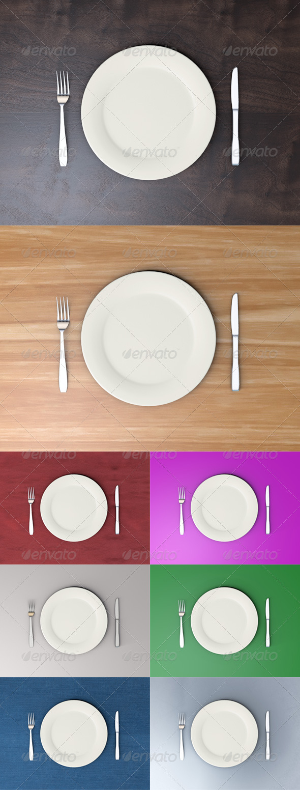 Dining Set - Objects 3D Renders
