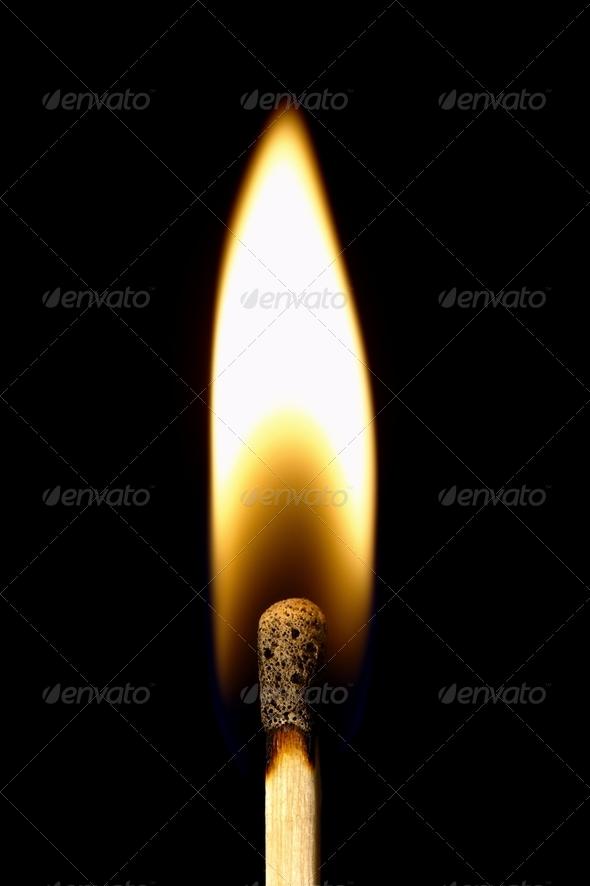 Burning Matchstick - Stock Photo - Images