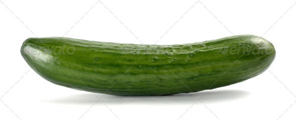 Single Cucumber - Stock Photo - Images