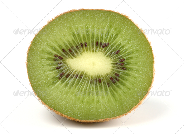 Section Of A Kiwi - Stock Photo - Images
