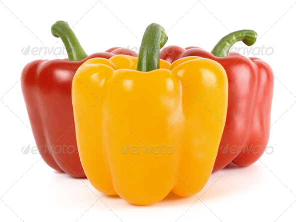 Three Bell Peppers - Stock Photo - Images