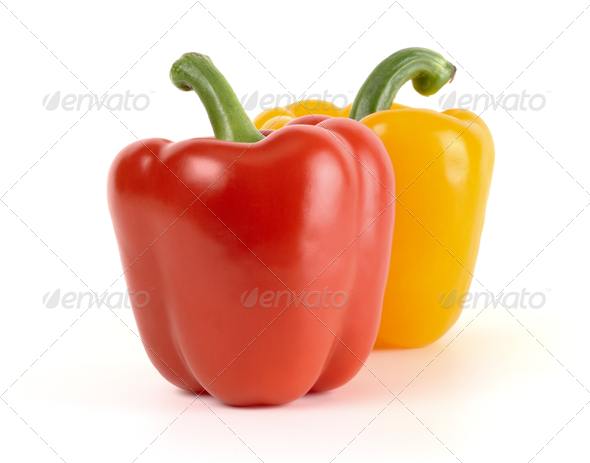 Red And Yellow Bell Peppers - Stock Photo - Images