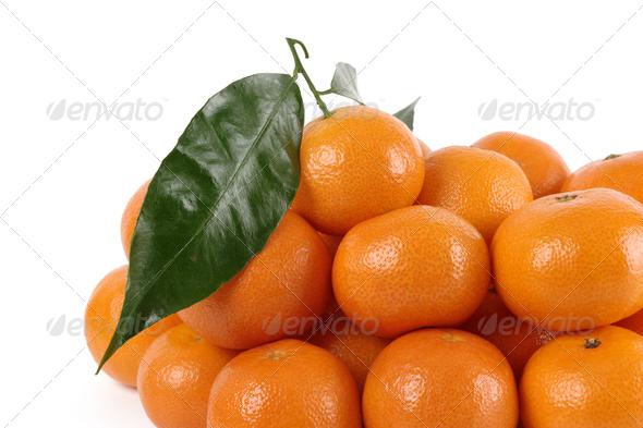 Heap Of Ripe Mandarins - Stock Photo - Images