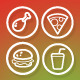 25 Vector Icons Food - GraphicRiver Item for Sale