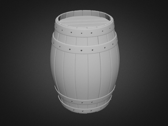 Barrel (High Poly) - 3DOcean Item for Sale