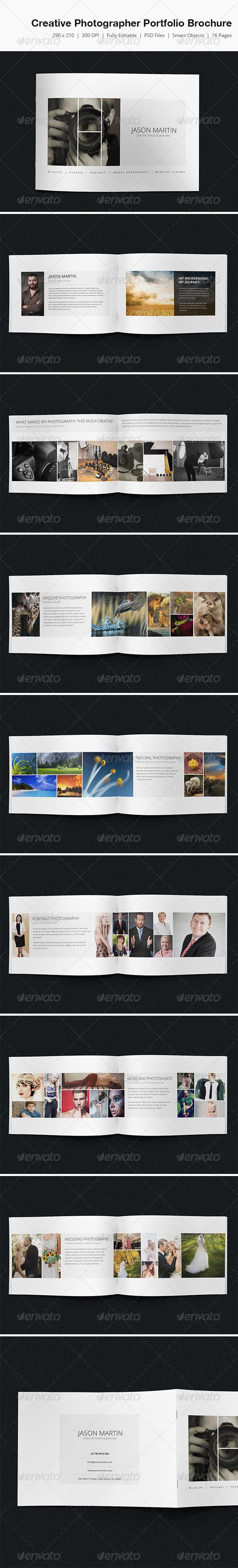 Creative Photographer Portfolio Brochure  - Portfolio Brochures
