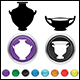 Set of Greek Pottery Icons - GraphicRiver Item for Sale
