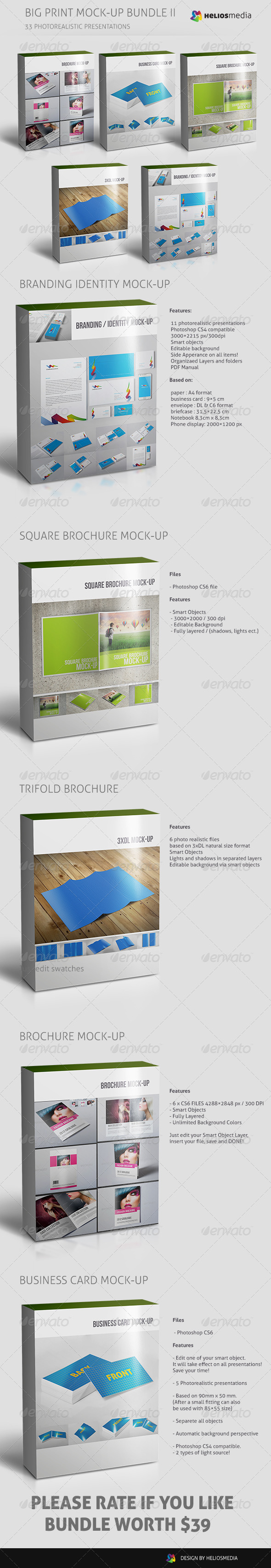 Big Print Mock-up Bundle II - Print Product Mock-Ups