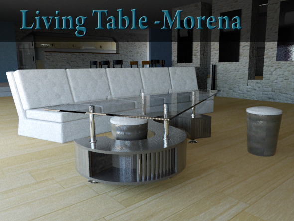 Living Table - Morena - 3DOcean Item for Sale