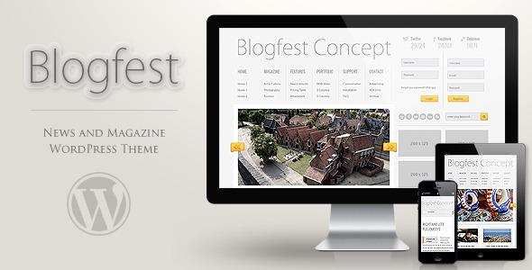 Blogfest WordPress Magazine News and Blog Theme - theme preview