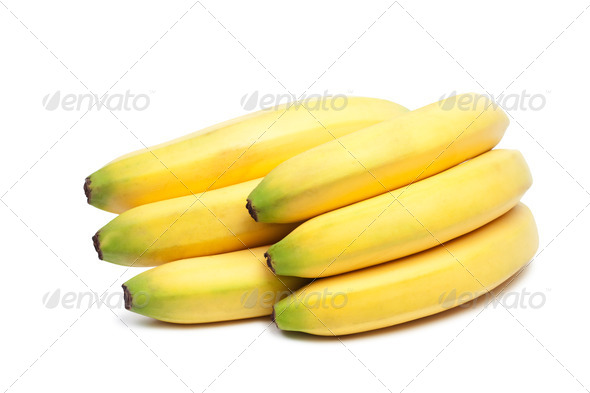 Bunch Of Bananas Isolated Over White Background - Stock Photo - Images
