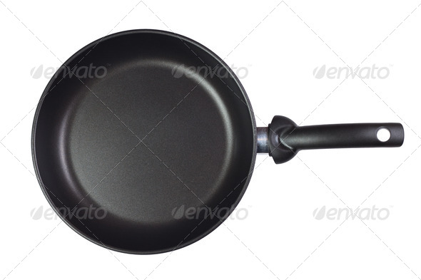 Frying Pan Isolated Over White Background - Stock Photo - Images