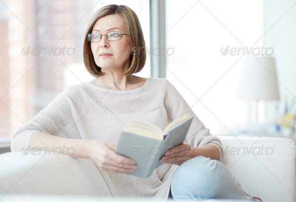 Reader at home - Stock Photo - Images