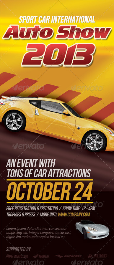 Premium Automotive Business Rollup Banners By Kinzi GraphicRiver - Car show banners