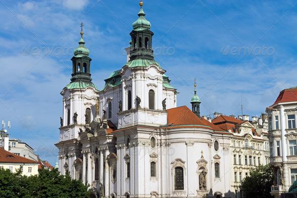 Church St. Nicolas in Prague - Stock Photo - Images