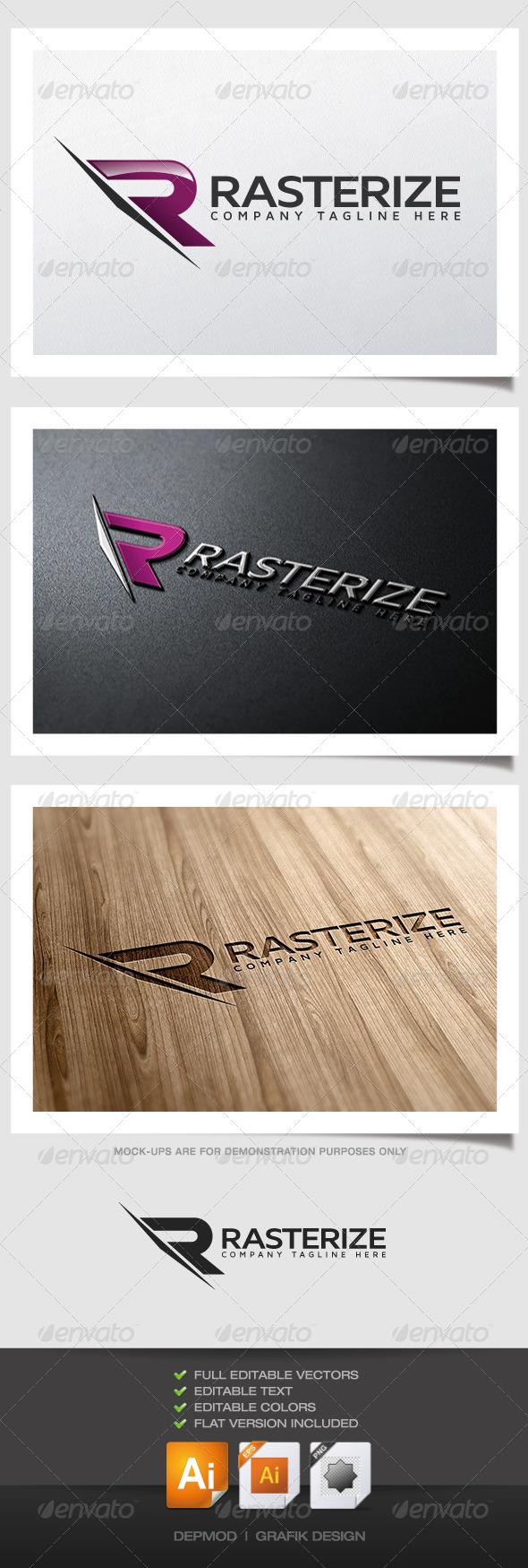 Rasterize Logo - Letters Logo Templates