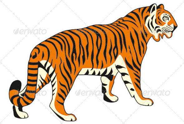 tiger vector image by eexoos graphicriver rh graphicriver net tiger vector image tiger vector free download