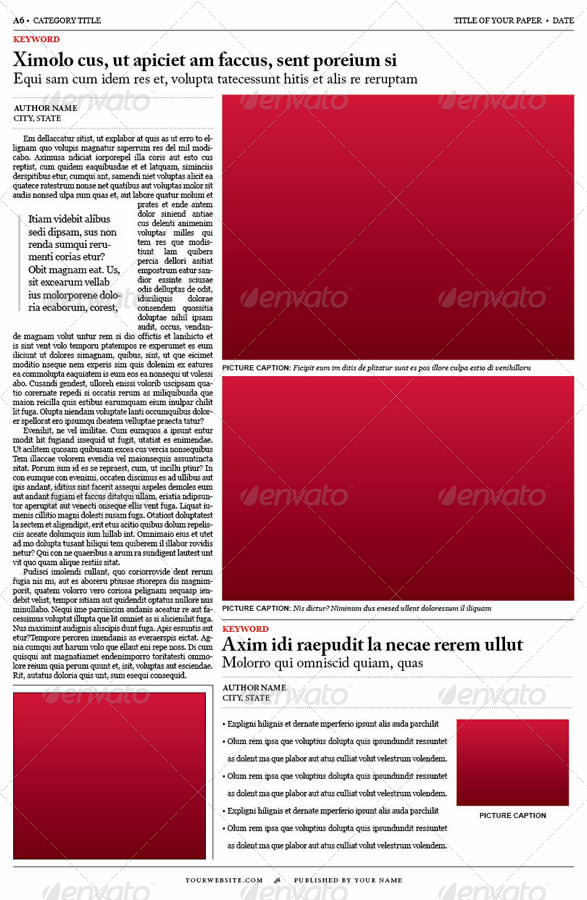 Old Style Newspaper Template By Tedfull | Graphicriver
