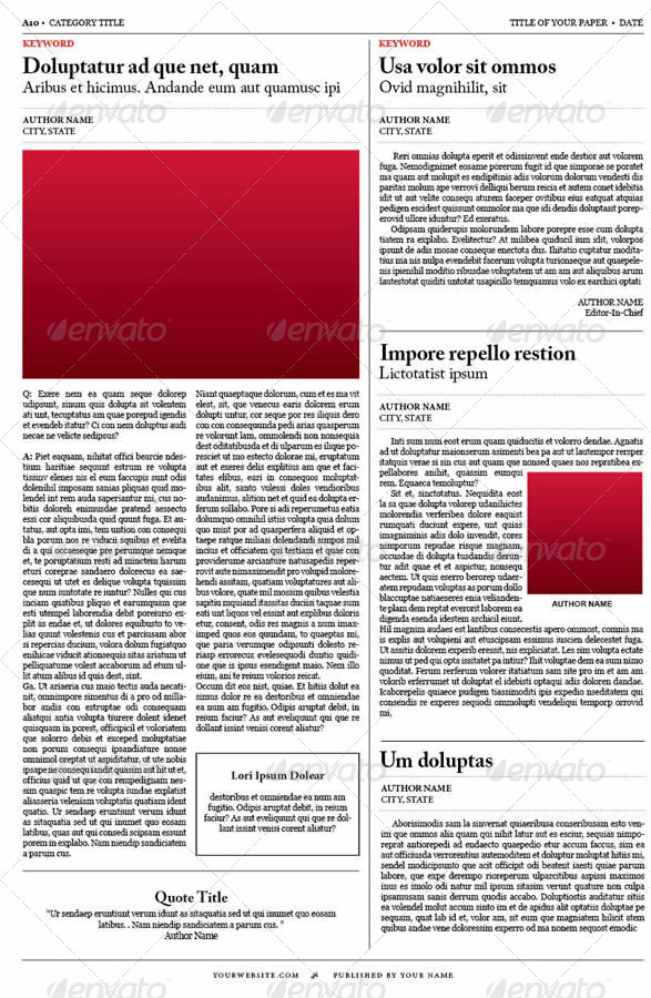 Old style newspaper template by tedfull graphicriver old style newspaper template pronofoot35fo Choice Image