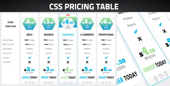 Pricing Table - CodeCanyon Item for Sale