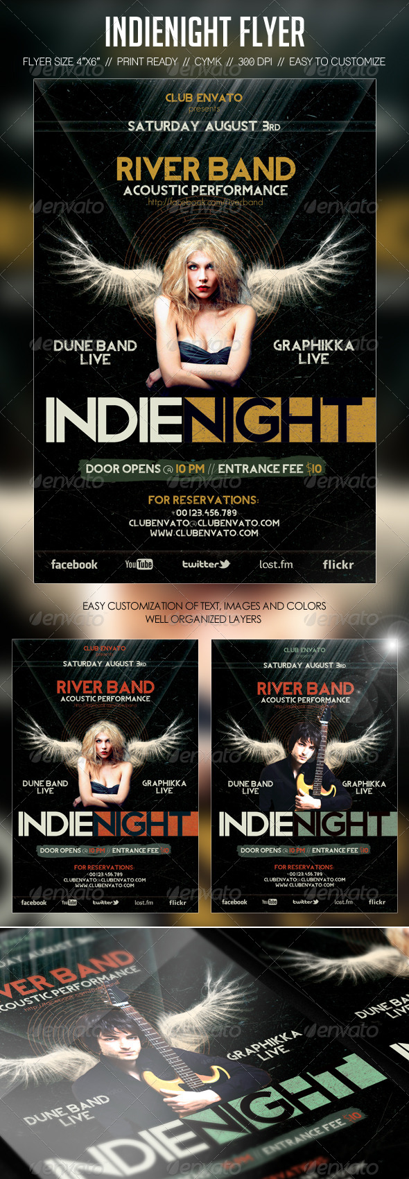 Indienight Concert Flyer - Concerts Events