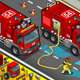 Isometric Firefighter Tank Truck in Front View - GraphicRiver Item for Sale