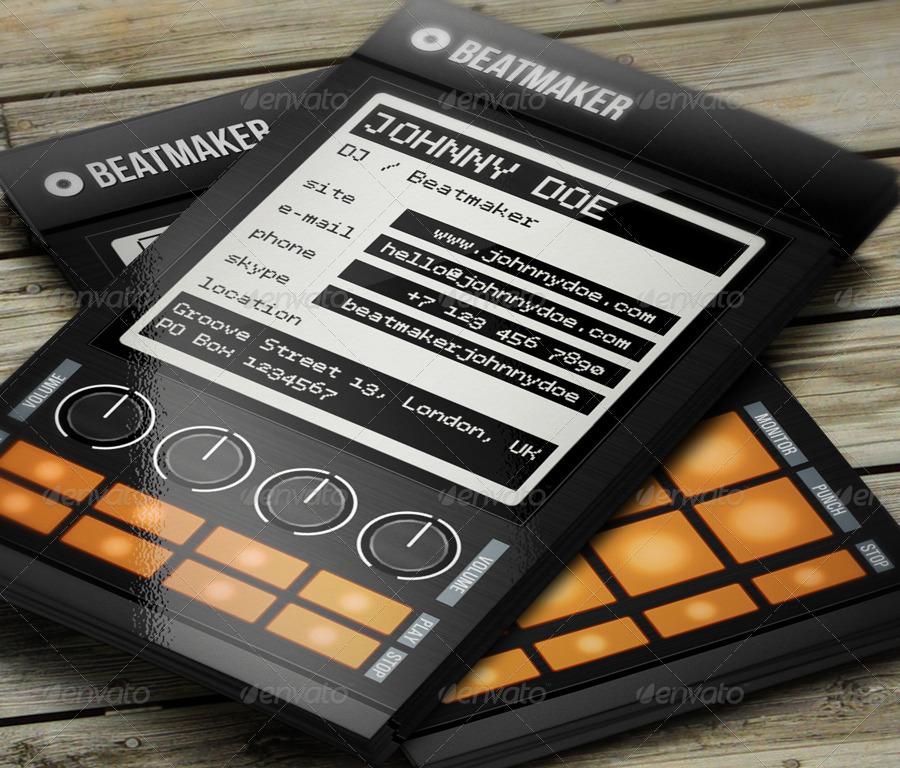 Pro beatmaker dj business card by vinyljunkie graphicriver pro beatmaker dj business card industry specific business cards 01beatmakerdjbusinesscardg reheart Gallery