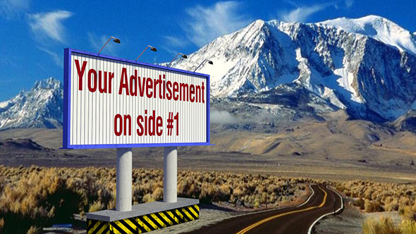 Animated Rotating Billboard - 3DOcean Item for Sale