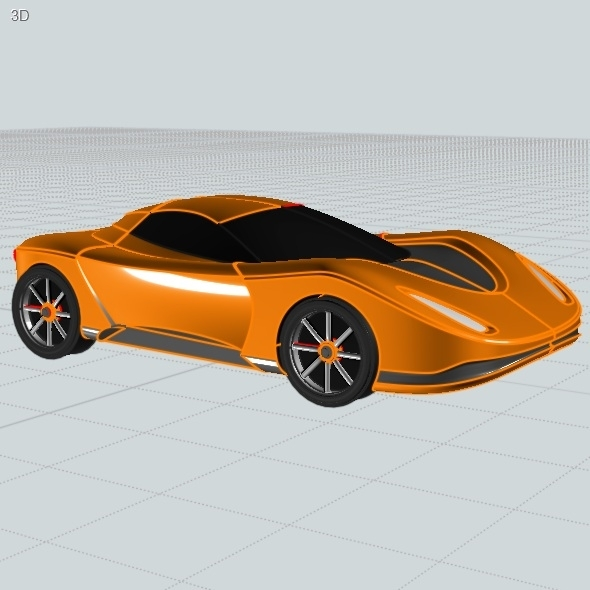 Futuristic concept car toy CAD model - 3DOcean Item for Sale