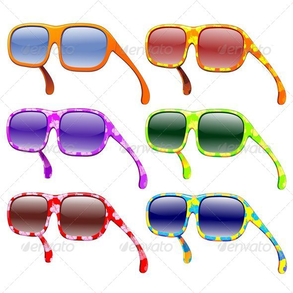 Sunglasses Summer Fashion Colors - Miscellaneous Vectors