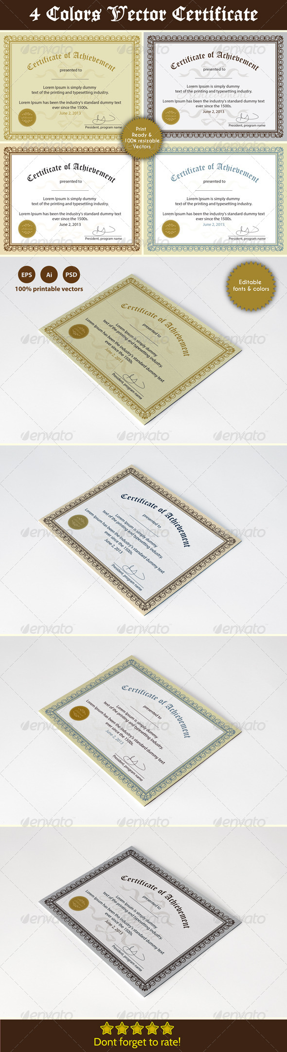 Achievement Certificates - Certificates Stationery